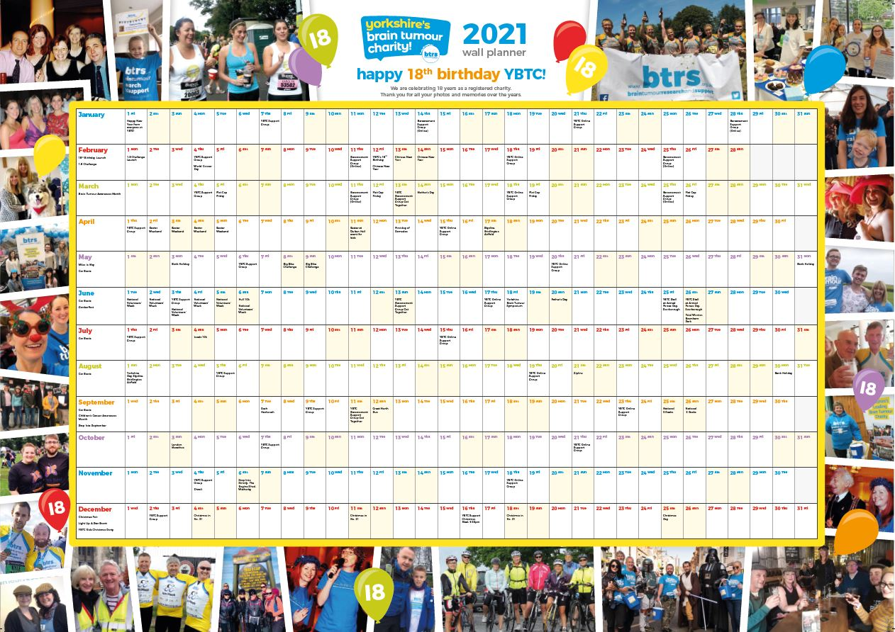 Order your FREE 2021 wall planner